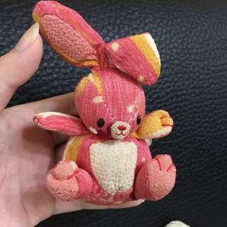 日本精緻拼布兔子吊飾
