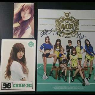 Signed AOA Heart Attack Album (Chan mi) [Free Shipping]