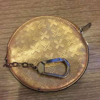 PORTER 金色圓型 鑰匙零錢包