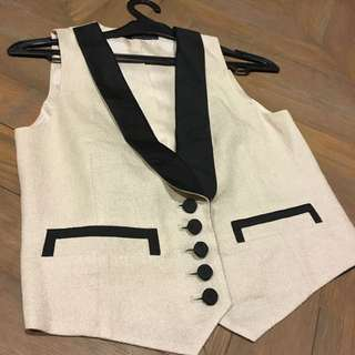 Vest With Tuxedo Details From Martinique