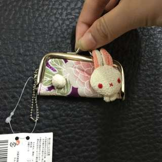 日本精美兔子印章袋子