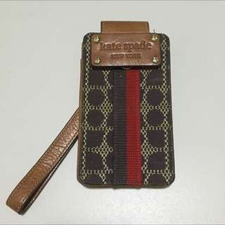 Kate spade signature look.  Authentic media Phone carrying case