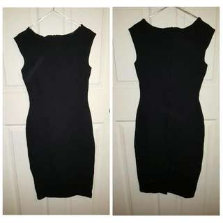 Formal Black Midi Dress