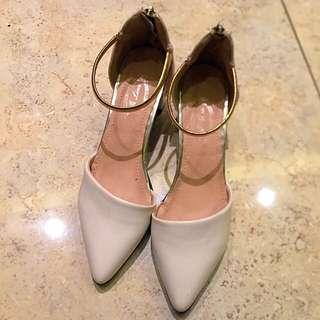 White Heel Loafer