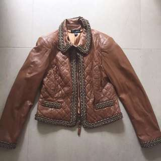 Brown Leather Jacket Size 10 Harry Who
