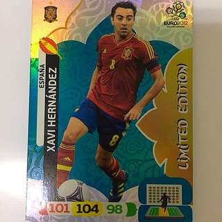 Limited Edition Xavi Panini Euro 2012