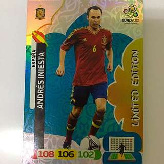 Limited Edition Iniesta Panini Euro 2012