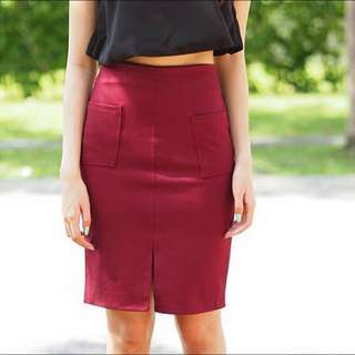 [FREE POST] BNWT Tapas Maroon Skirt
