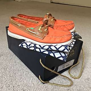 Orange Milly For Sperry Top-Sider With Box
