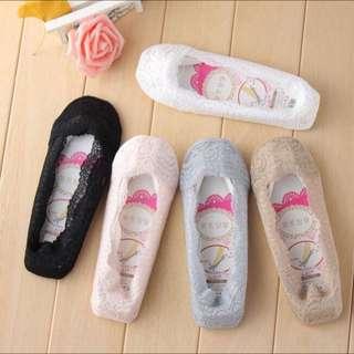 韓版蕾絲矽膠防滑隱形襪