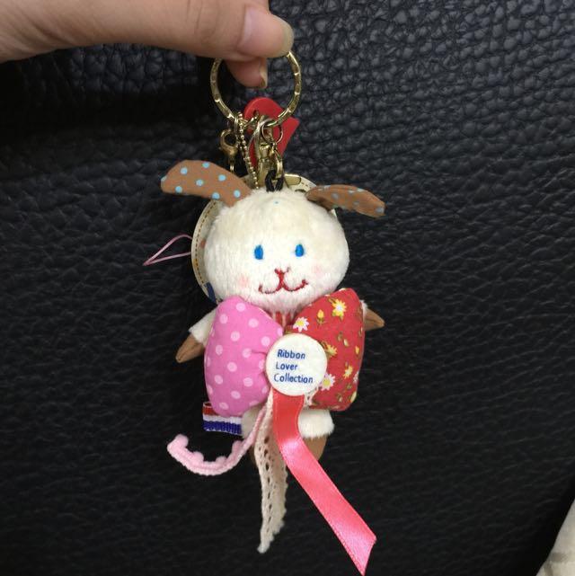 日本精緻白色蕾絲蝴蝶結兔子(可小議)