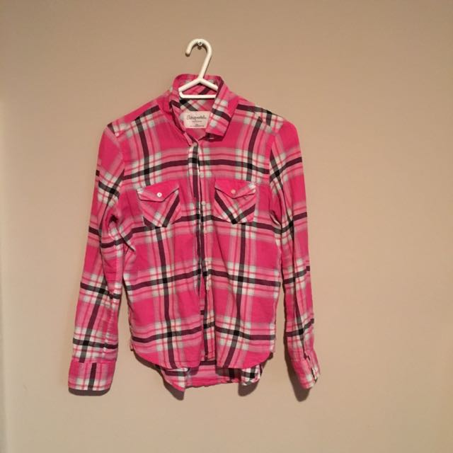 Aeropostale Pink Plaid