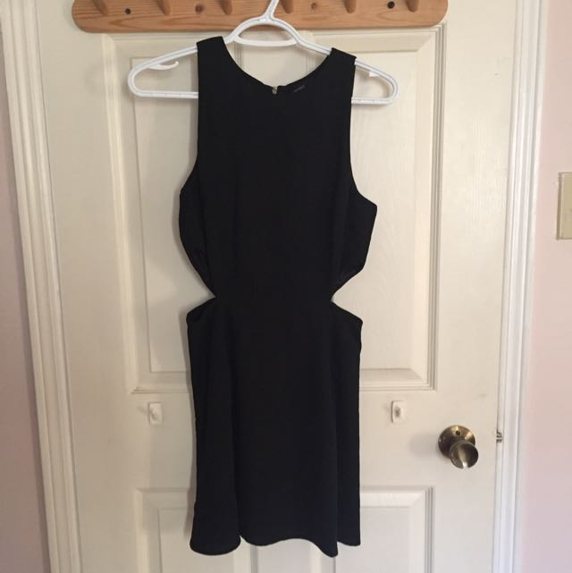 Black Cut-out Skater Dress