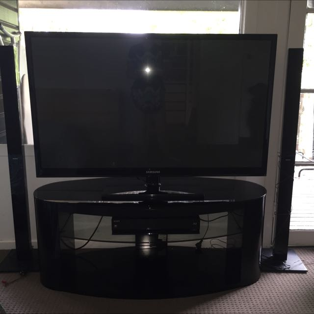 Black Lacquer Tv Unit