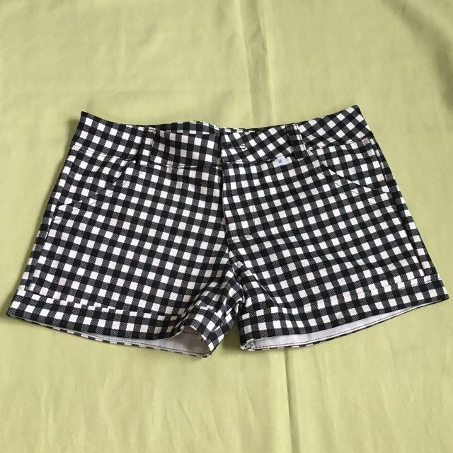 Black N White Checkeredshorts