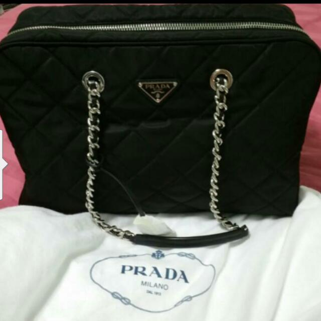 3ee5831a116f Brand New Authentic Prada Tessuto Impuntu Nero Bag. #1BB774 FAST ...