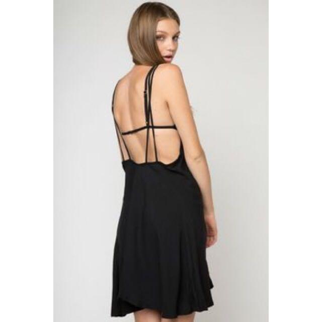 Brandy Melville Black Low Back Dress