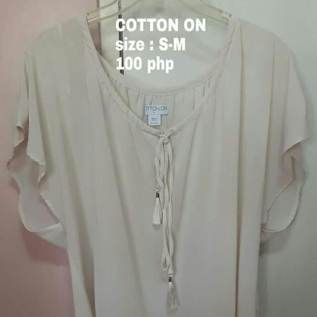 Chiffon Off White Office Top
