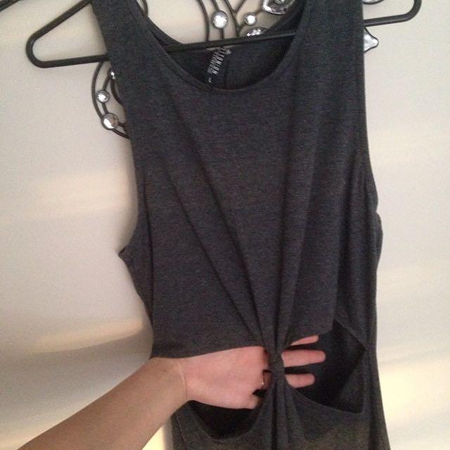 Dark Grey Stretchy Dress