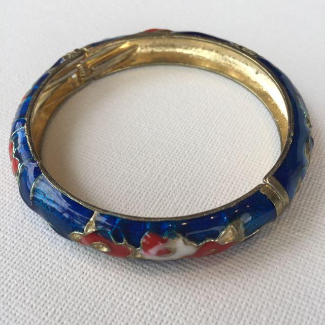 Enamelled Chinese Bracelet
