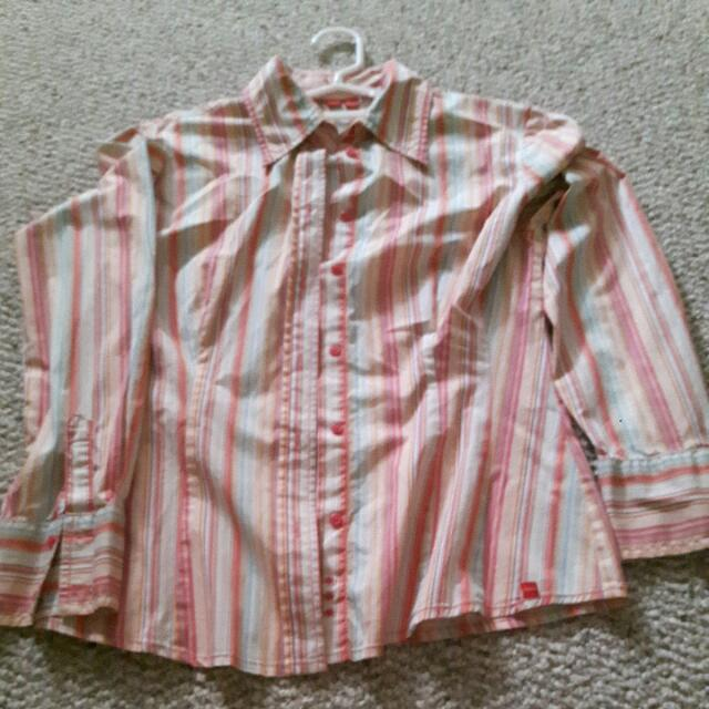 Espirit Strip Long Sleeve Shirt