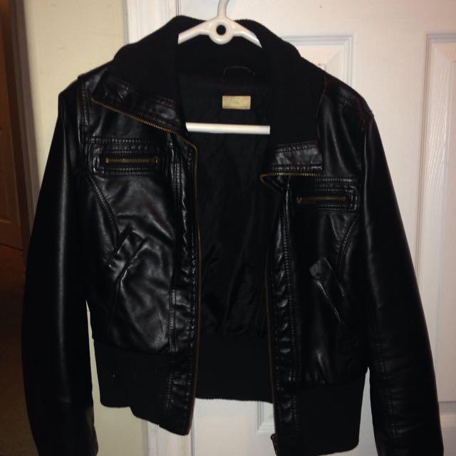 Faux Leather Jaxket
