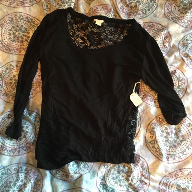 Forever 21 Lace Back Shirt