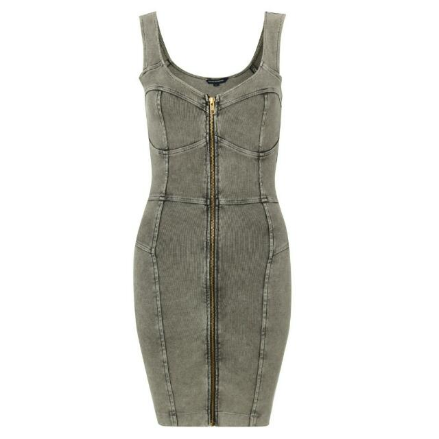 French Connection Gray Bandage Dress