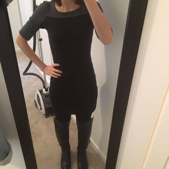 Get This Look For $25 Kookai Bodycon And Brand New Knee High Boots