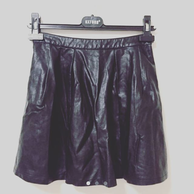 Glassons Faux Leather Skirt