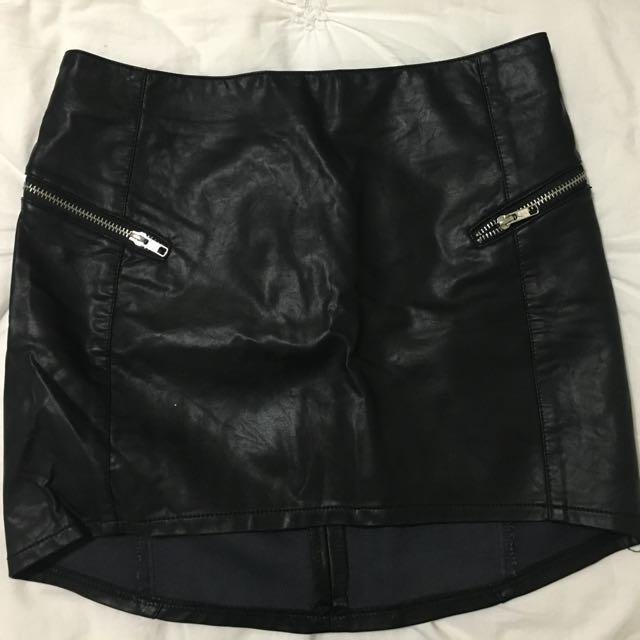 ICE leather Skirt