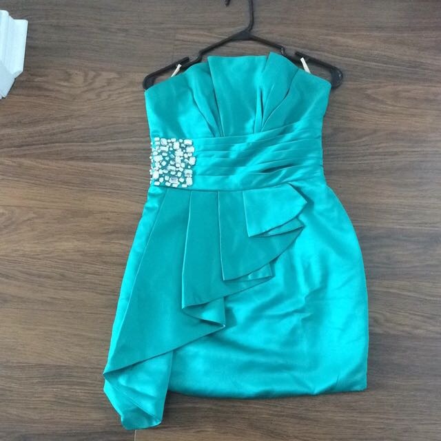 Joy Couture Mint Green Formal Dress