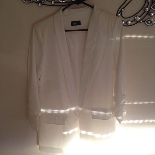 Ladies White Formal Blazer Dotti