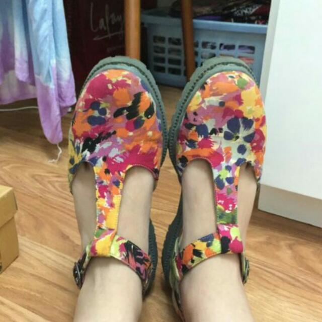 MKS Shoes Colorful Strappy Shoed