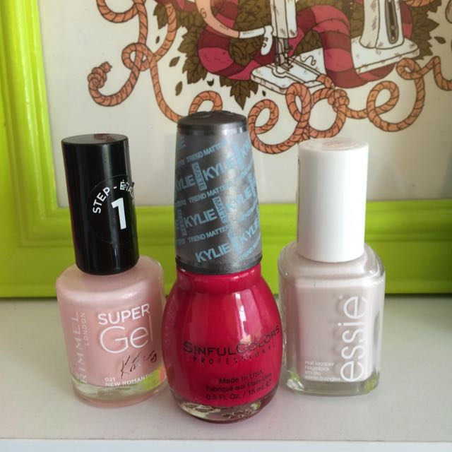 Nail Polish Bundle Essie Kylie for Sinful Colours Kate Moss for Rimmel Gel Matte