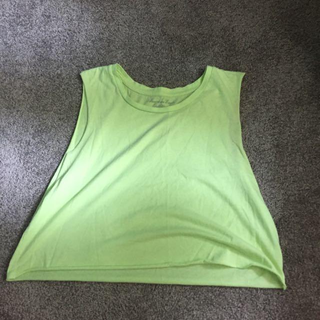 Neon Green Muscle Crop Top