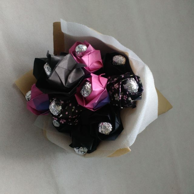 Paper Flowers - Black Purplish Rose
