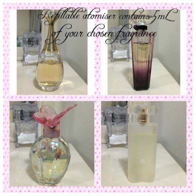 Perfume Atomiser With Your Choice Of Perfume.