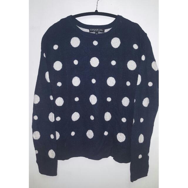 Topshop Polka-dot Pullover