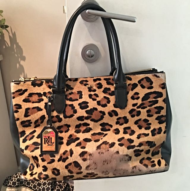 Ralph Lauren Leopard Detail Handbag