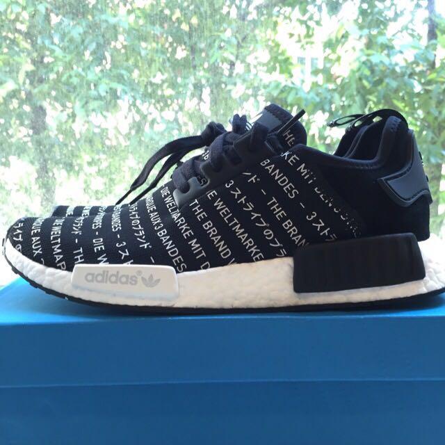 Adidas NMD 3Stripe Blackout US9.5/UK9
