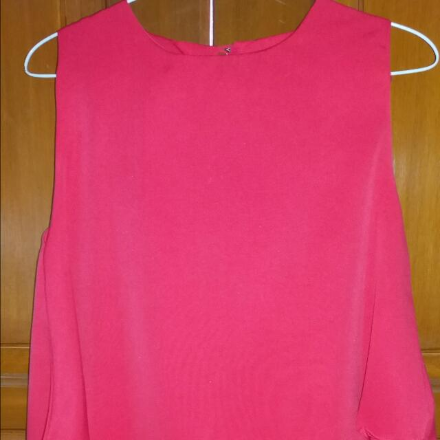 Shocking Pink Layer Top