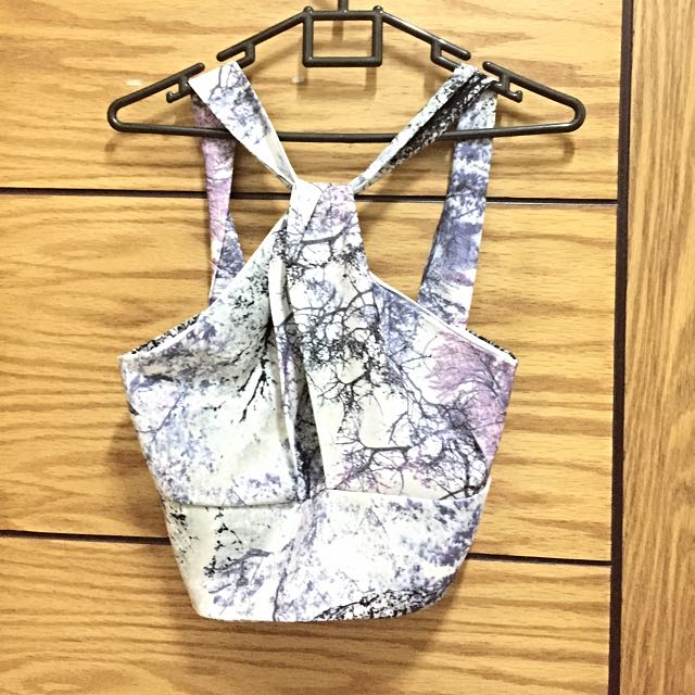 Sling Neck Crop Top