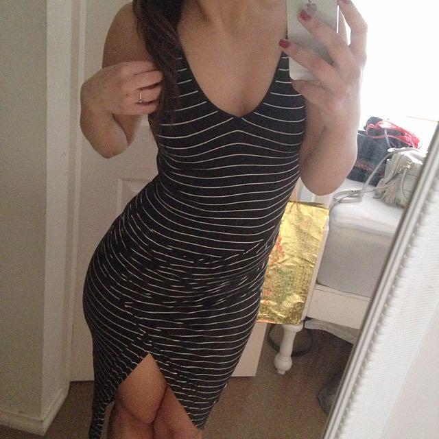 Stripy Slit Dress