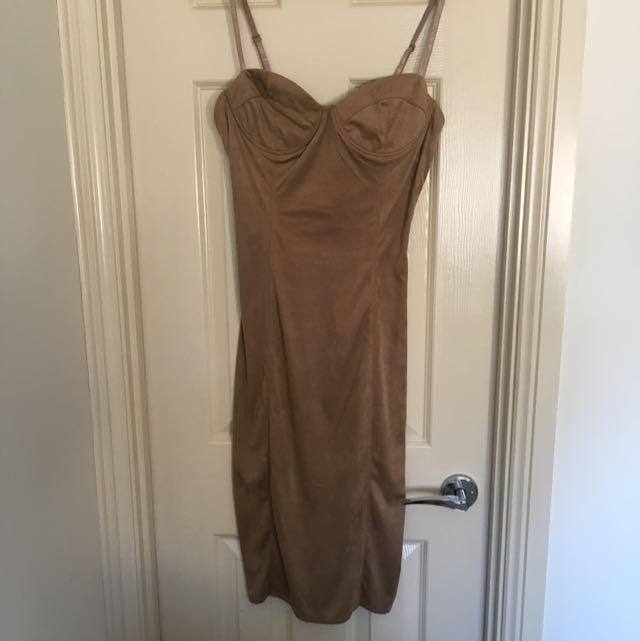 Sunday's Tan Dress
