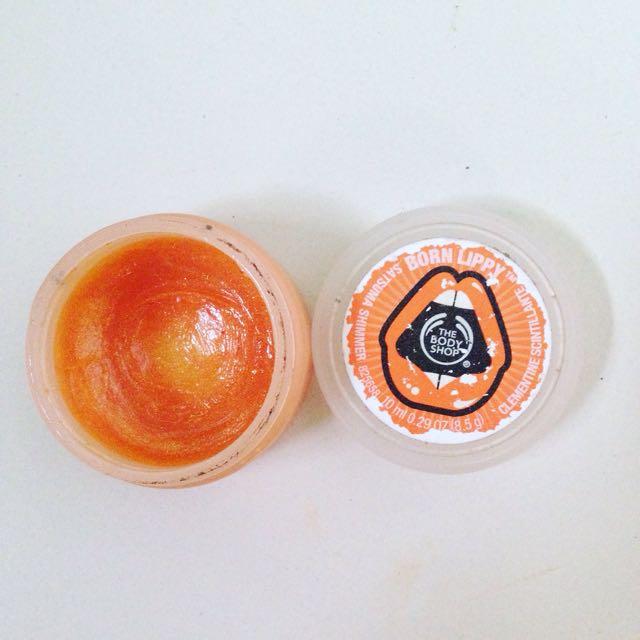 The Body Shop Born Lippy Orange Lip Balm