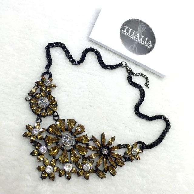 Tropical Crystal Statement Necklace GG-15