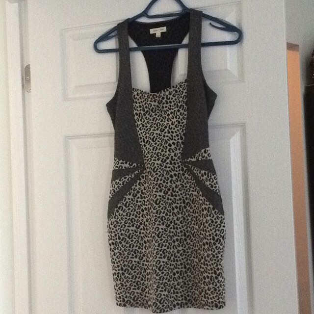 Urban Outfitters Leopard Fitted Dress