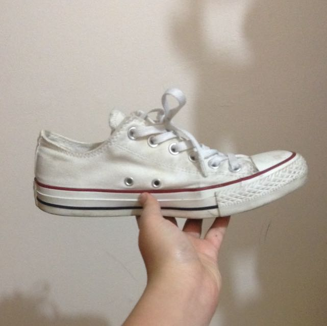 White Converse Low Cut