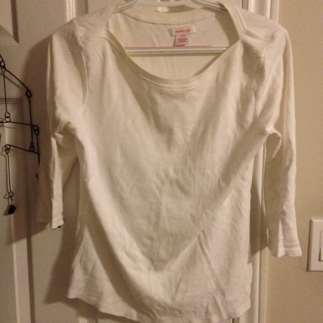 Wide Neck White Tee